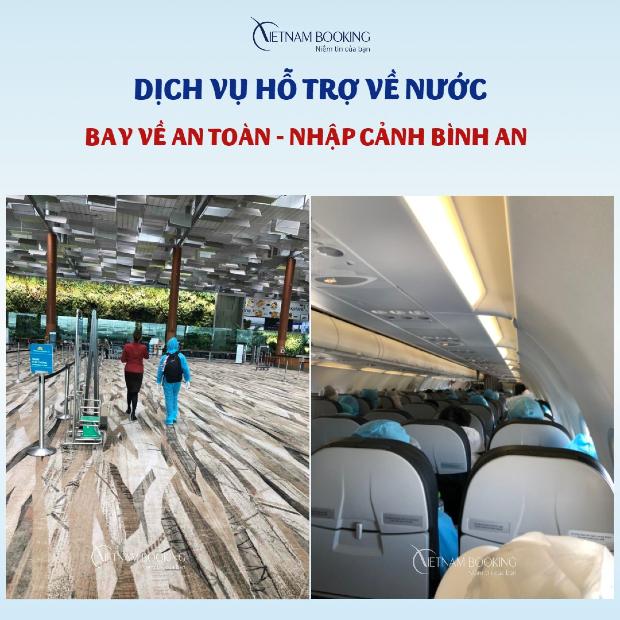 Hỗ trợ đặt vé máy bay từ Anh về Việt Nam